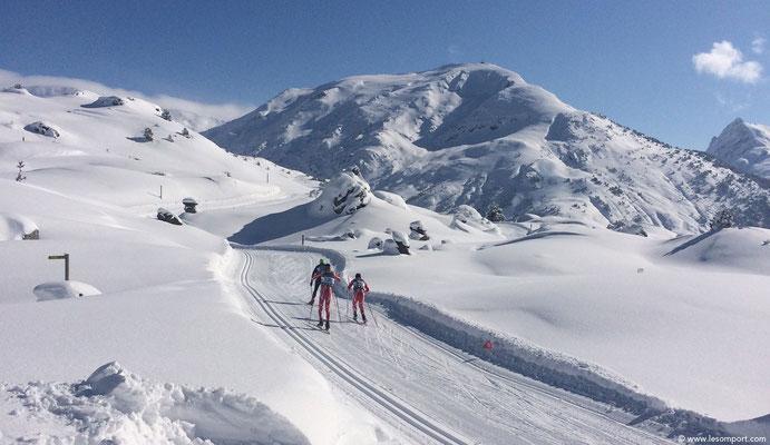 Ski de fond,à l'Espace Nordique du Somport