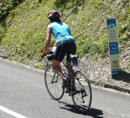 Cyclisme, montée du col de Marieblanque
