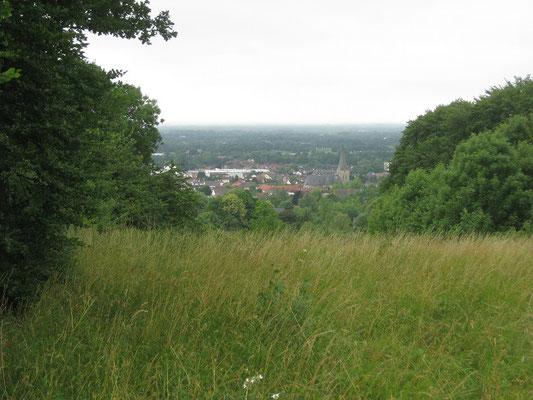 Blick auf Tecklenburg und eine seiner Kirchen
