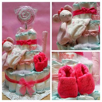 gâteau de couches souris