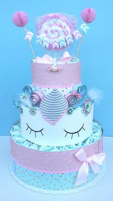 Gâteau de couches Licorne