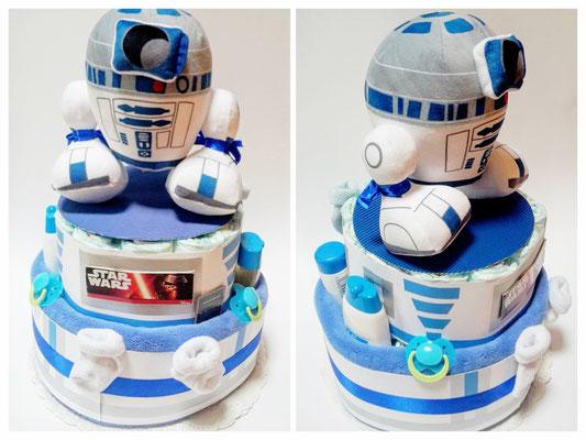 Gâteau de couches R2D2 Stars Wars