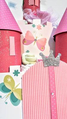 château princesse gâteau de couches