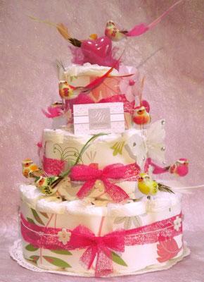 gâteau de couches oiseaux
