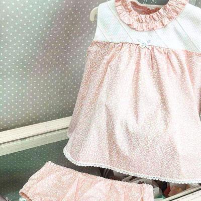 robe bébé fille rose romantique bohème