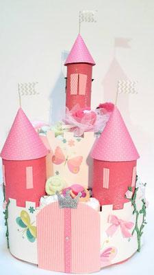 gâteau de couches château conte de fées