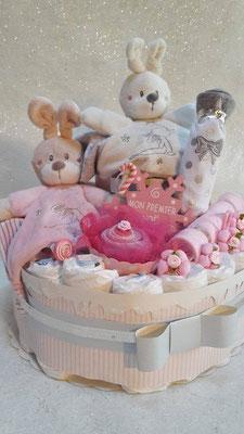 gâteau de couches jumelle