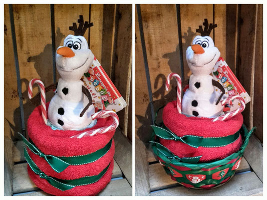 Gâteaux de couches Olaf Disney sur le thème de Noël