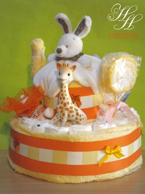 gâteau de couches sophie girafe