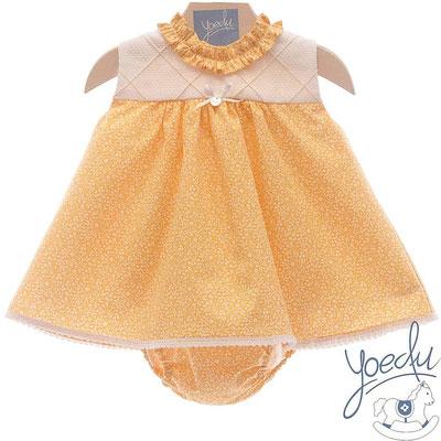 robe bebe fille jaune