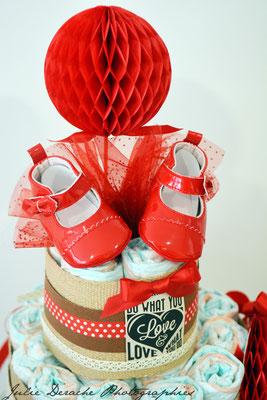 création gâteau de couches diaper cake