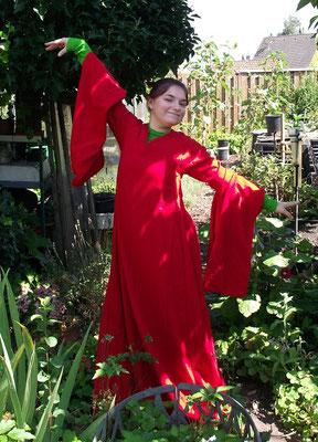 Mittelalterkleid mit Hängeärmeln