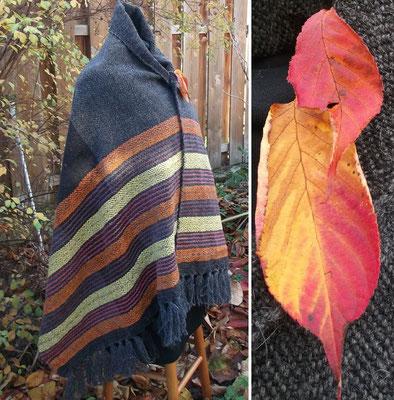 die warmen leuchtende Herbstfärbung war die Vorlage zu dieser Garnkombination
