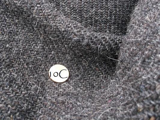 handgewebtes Manteltuch in der Vergrößerung