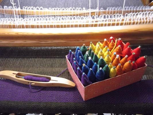 Decke Regenbogen am Webstuhl