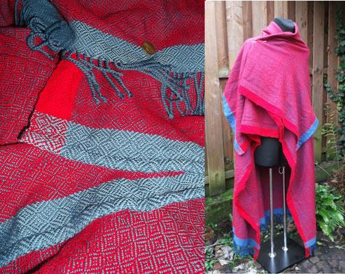 Frühmittelalterlicher Rechteckmantel - natürlich handgewebt aus guter Wolle