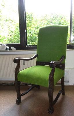 der fertige Stuhl in Leseposition