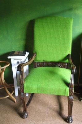 der fertige Stuhl an seinem Ruhe-Platz
