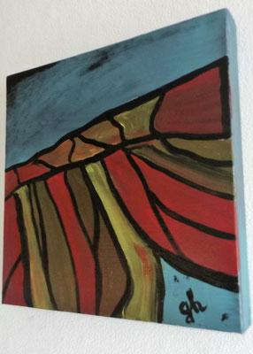 Acrylbild auf Leinwand - Abstrakt - Dezember 2016 - verkauft