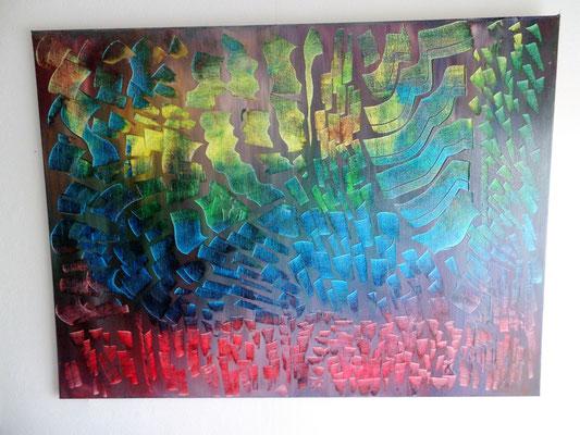 Acrylbild auf Leinwand/ Keilrahmen- 60 x 80 cm / Abstrak - Juni 2017 - verkauft
