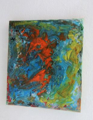 Acrylbild auf Leinwand/ Keilrahmen - 25 x 30 cm / Abstrakt - Mai 2017
