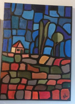 abstrakte Landschaft - 2015