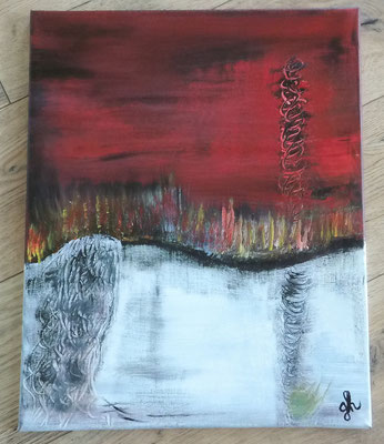 Acrylbild auf Leinwand / Keilrahmen - 50 x 40 cm - Abstrakt  -- Oktober 2016 - verkauft