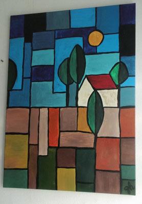 abstrakte Landschaft - 2015    -    verkauft