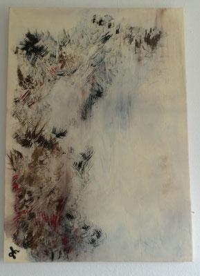 Abstrakt - Acrylbild auf Leinwand/ Keilrahmen - 50 x 70 cm - April 2016 ( verkauft / verschenkt )