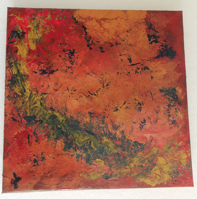 40 x 40 x 4 cm _ Abstrakt - rot - März 2016