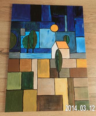 abstrakte Landschaft   -    verkauft