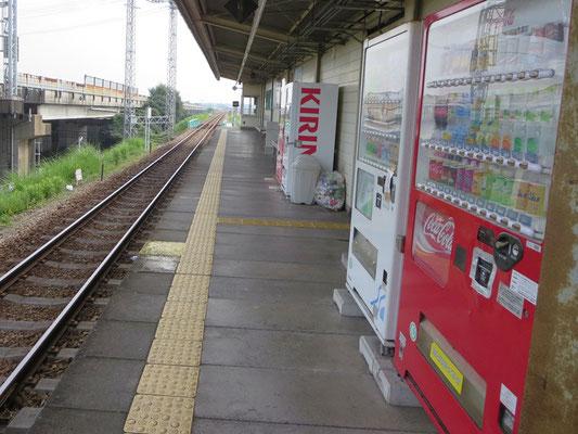 甘鉄小郡駅ホーム