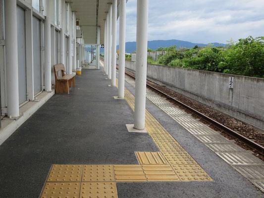 大板井駅ホーム
