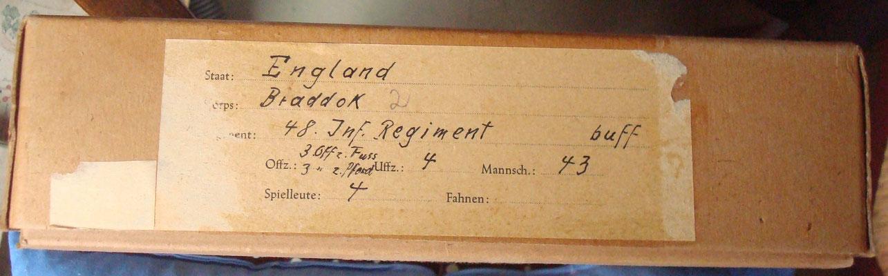 Schachtel 044 - Bild 1 -  Braddock Inf. Reg. 48 Musketiere vorgehend