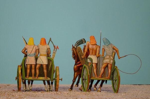 Aufstellungen Ramses II. inspiziert seine Truppen vor dem Marsch nach Kadesch