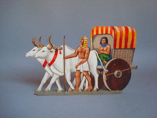 Schachtel 019 - Bild 3 - Ägypten Ochsenwagen