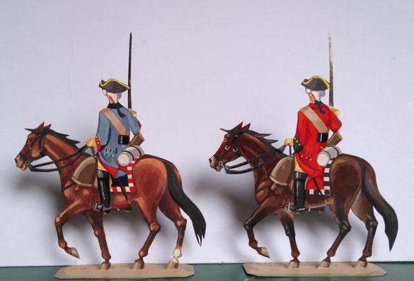 Schachtel 082 - Bild 23- Rgt. du Roi (blau), Rgt. Colonel Gènèral (rot)