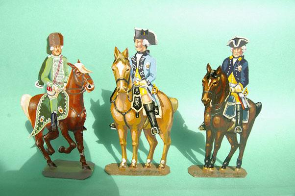 Schachtel 169 - Bild 4  - Preußen Stab: Husaren-Offizier Nr. 1, Drag.-Offz Nr. 12 von Würtemberg, Adjutant