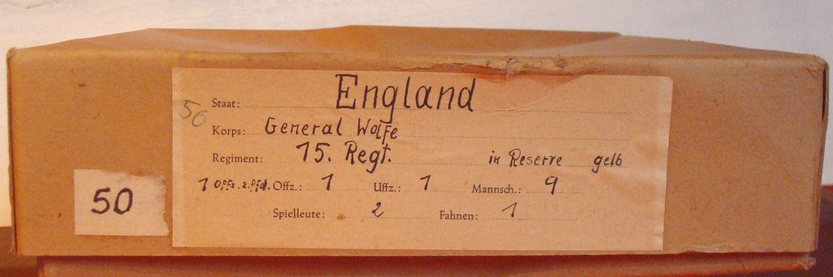 Schachtel 050 - Bild 1 - General Wolfe 15. Regt. in Reserve gelb