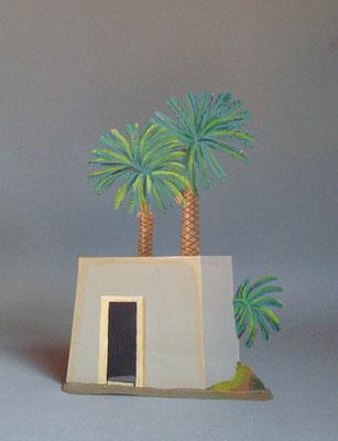 Schachtel 019 - Bild 5 - Ägypten Haus mit Palme