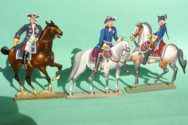 Preußen Stab Friedrich d. Gr. und Adjutanten