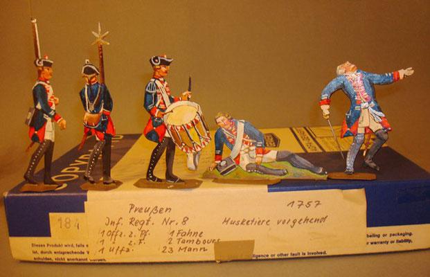 Schachtel 184 - Bild 1  - Preußen Musketiere Infanterie-Regiment Nr. 8