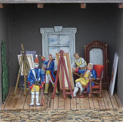 Friedrich Wilhelm I malt Lange Kerls