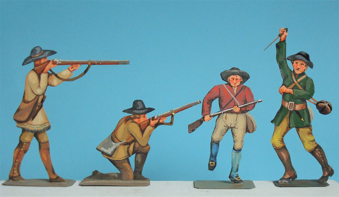 Schachtel 030  - Bild 3 - Neu - England, Miliz, Trapper, Farmer