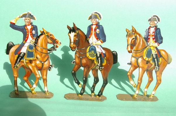 Schachtel 169 - Bild 7  - Preußen Stab:  Fürst Moritz von Dessau, von Goltz und Infanterie-Offizier