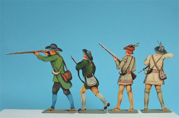 Schachtel 030  - Bild 2 - Neu - England, Miliz, Trapper, Farmer