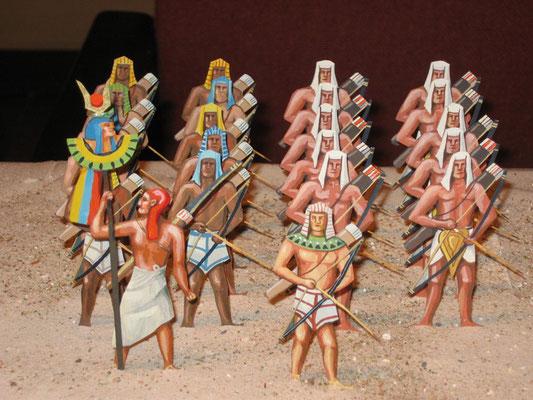 Schachtel 013 - Bild 1 - Ägypten Bogenschützen