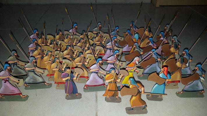 Schachtel 025 -  Bild 1 - Assyrer  Infanterie Angriff