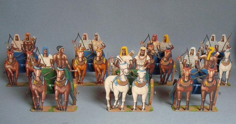 Schachtel 016 - Bild 1 - Ägypten Streitwagen  halbplastisch