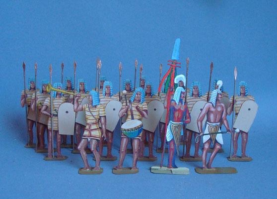 Ägypten Korps Rames II blau